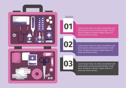 Illustrated Medical Infographic in Purple