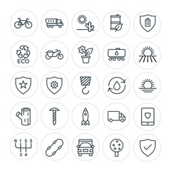 Modern Simple Set of transports, industry, nature, security Vector outline Icons. Contains such Icons as fuel,  lifestyle,  fruit,  shipping and more on white background. Fully Editable. Pixel Perfect