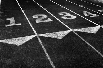 Racetrack With Lines for Running Race