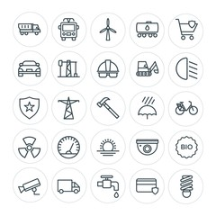 Modern Simple Set of transports, industry, nature, security Vector outline Icons. Contains such Icons as transportation,  transportation,  and more on white background. Fully Editable. Pixel Perfect