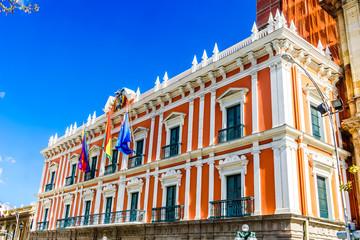 Bolivian Palace of Government - Palacio Quemado - in La Paz