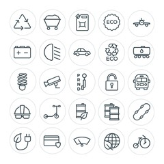 Modern Simple Set of transports, industry, nature, security Vector outline Icons. Contains such Icons as  can,  surveillance,  circus,  card and more on white background. Fully Editable. Pixel Perfect