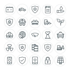 Modern Simple Set of transports, industry, nature, security Vector outline Icons. Contains such Icons as  button,  transportation,  nature and more on white background. Fully Editable. Pixel Perfect