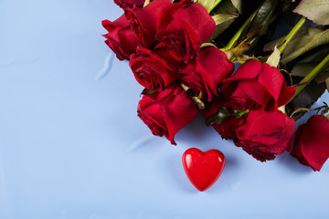 Red roses on background