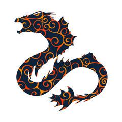 Basilisk pattern silhouette ancient mythology fantasy