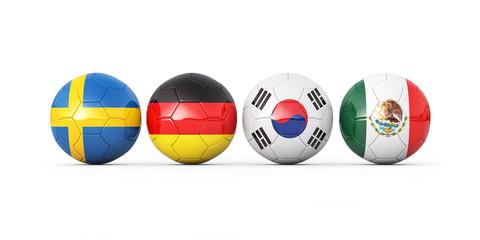Soccer cup 2018 3d render illustration
