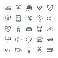 Modern Simple Set of transports, industry, nature, security Vector outline Icons. Contains such Icons as  credit,  fruit,  truck,  world and more on white background. Fully Editable. Pixel Perfect