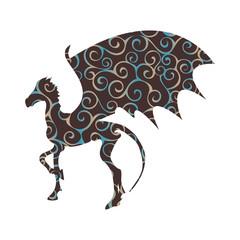 Thestral skeleton horse pattern silhouette mythical animal fanta