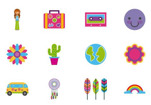 24 Colorful Retro Icons