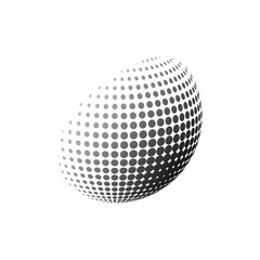 Abstract halftone 3d sphere design, Halftone ball, Halftone graphic vector concept
