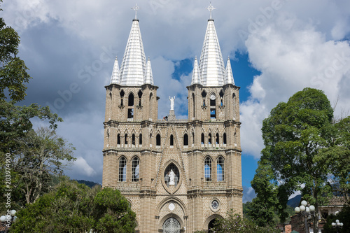 Basilica Menor De Jardin Antioquia Colombie Stock Photo And