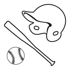 Vector illustration baseball icon