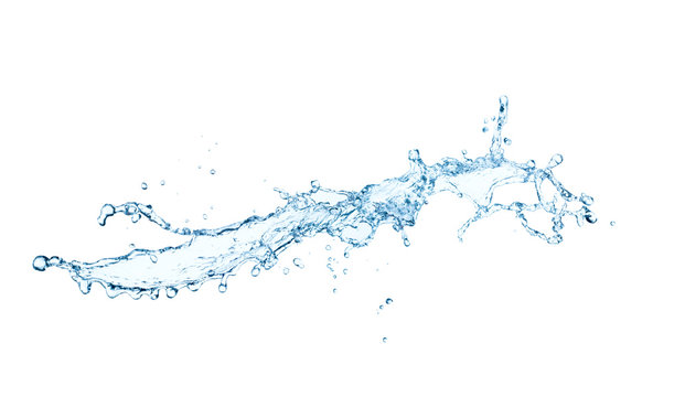 water wave splash isolated on white background