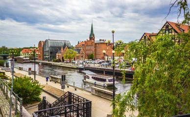 Obraz Stare miasto w Bydgoszczy - fototapety do salonu