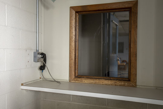 Phone used by visitors at abandoned prison