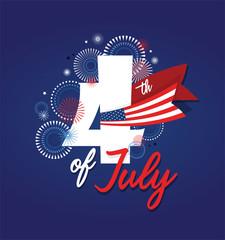 4th july fireworks background. celebration usa independence day symbol of united states freedom, patriotic holiday