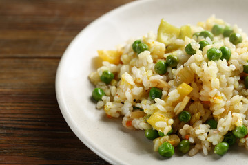 Rice with green pea