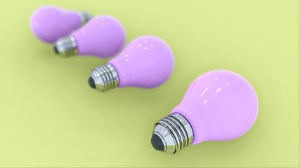 3D Rendering Lamp Light