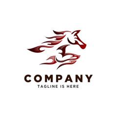 tribal fire horse speed logo