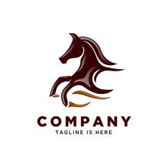 power fast running horse logo