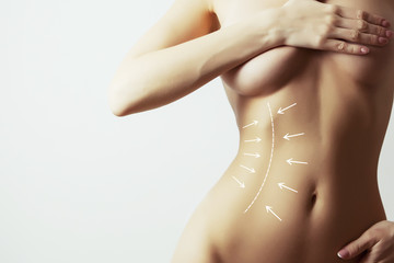 lymph drainage for woman body,