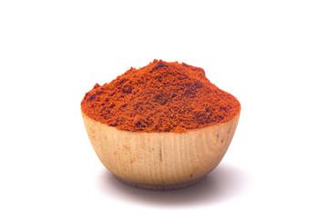 Powdered Paprika on a White Background