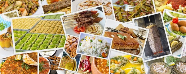 Traditional Turkish Foods collage
