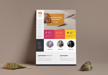 Flyer Layout with Bright Block Elements