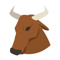 Bull with ring nose vector illustration graphic design