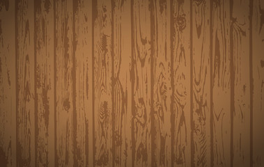 Brown wooden planks, table floor surface. Cutting chopping board. Wood texture. Vector illustration.