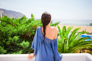 Young beautiful woman outdoors during vacation