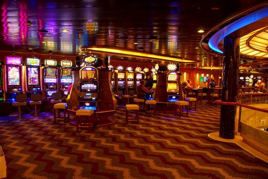 Slot machines of the casino