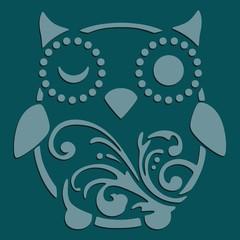 owl stencil art