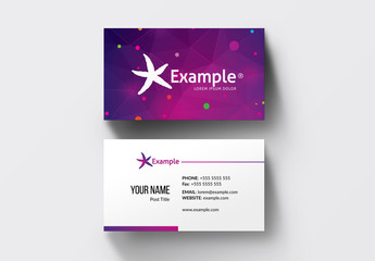 Pink and Purple Gradient Business Card Layout