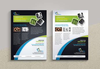 Flyer Layout with Gradient Curve Design