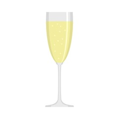 Sparkling champagne icon. Flat illustration of sparkling champagne vector icon for web