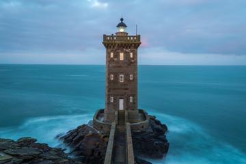 Photo sur Aluminium Phare Kermorvan lighthouse, Le Conquet, most western part of France, Bretagne, France
