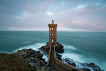 Kermorvan lighthouse, Le Conquet, most western part of France, Bretagne, France