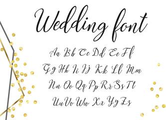 gold wedding font