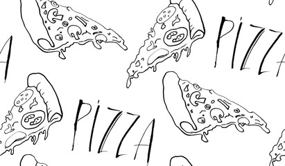 Seamless pizza background