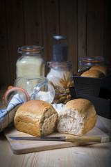 Foto op Aluminium Picknick Pan de molde con semillas casero y artesanal