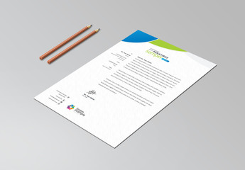 Letterhead Layout with Circular Designs