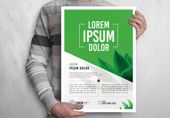 Flyer Layout with Plant Accents