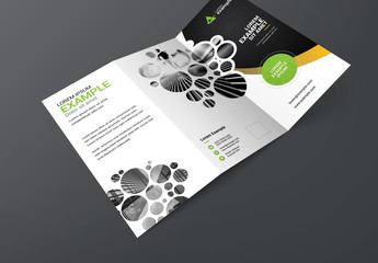 Trifold Brochure Clustered Circles