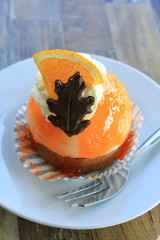 Fresh orange mousse confectionery