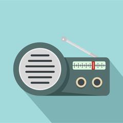 Speaker radio icon. Flat illustration of speaker radio vector icon for web design
