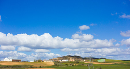 The sky with clouds for Spanish lands, Leon