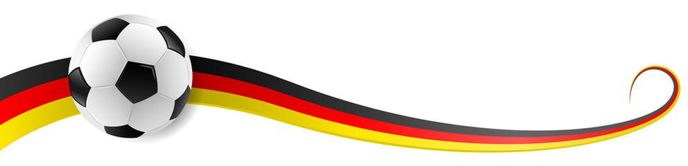 Fussball mit Deutschland Farben Flagge Fahne Banner