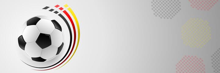 Fussball Banner mit Deutschland Flagge Fahne Farben abstrakt