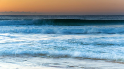 Sunrise Seascape and Waves